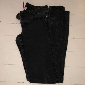 Divided: Distressed Black Jeans